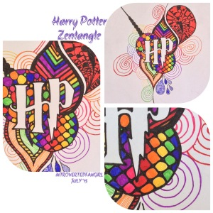 harry potter fan art, Zentangle art
